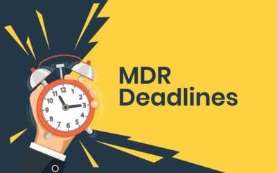 MDR Deadlines Update