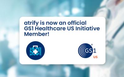 atrify ist ab sofort offizielles Mitglied der GS1 Healthcare US Initiative