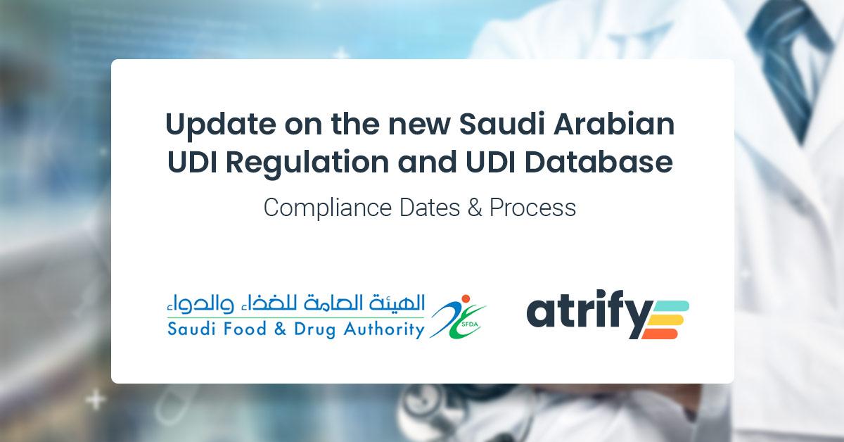 Saudi FDA UDI database updates