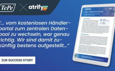 TePe D-A-CH GmbH und atrify – Willkommen im Pool