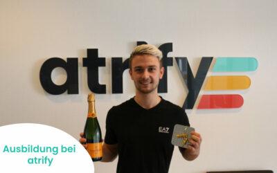 Das atrify-Team gratuliert Timo Meßner zur erfolgreich absolvierten Ausbildung